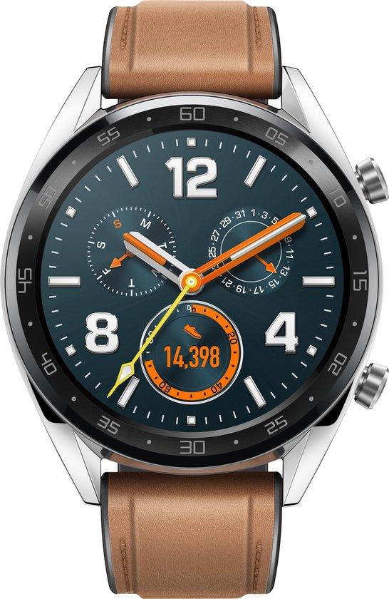 Huawei Watch GT - Smartwatch - Bruin van 199 voor 98,99 (50% korting)
