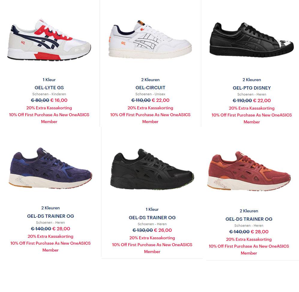 Sneakers 20% EXTRA + 10% - al va €14,40 @ Asics Outlet