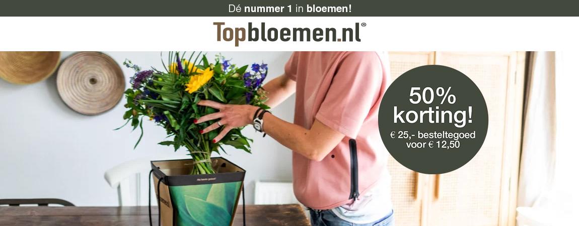Bloementegoed Topbloemen.nl met 50% korting voor BGL deelnemers