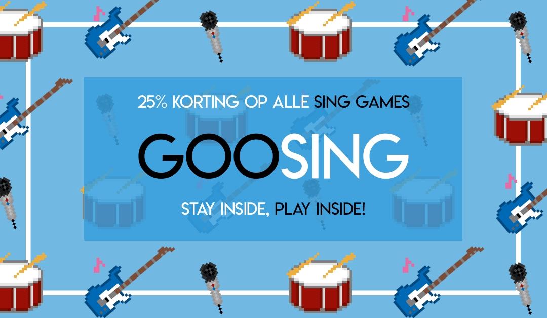 25% korting op alle Sing games @ GooHoo