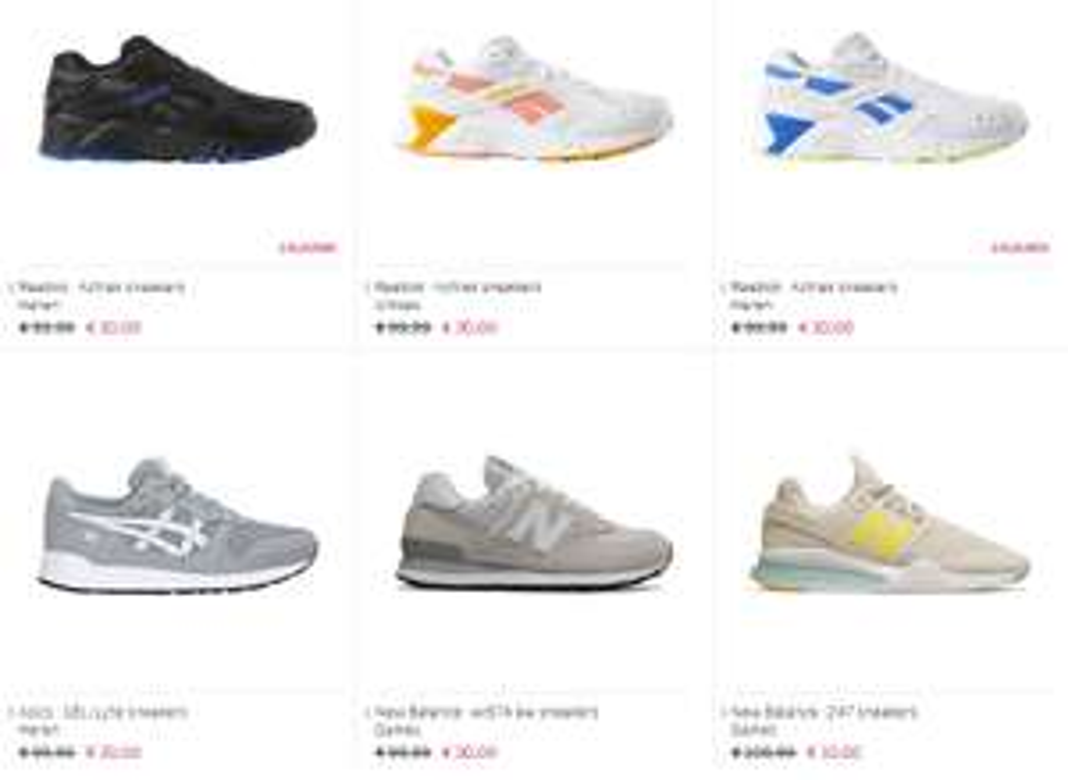 Diverse sneakers NB / Asics / Reebok -70% (22 modellen) @ the athlete's foot