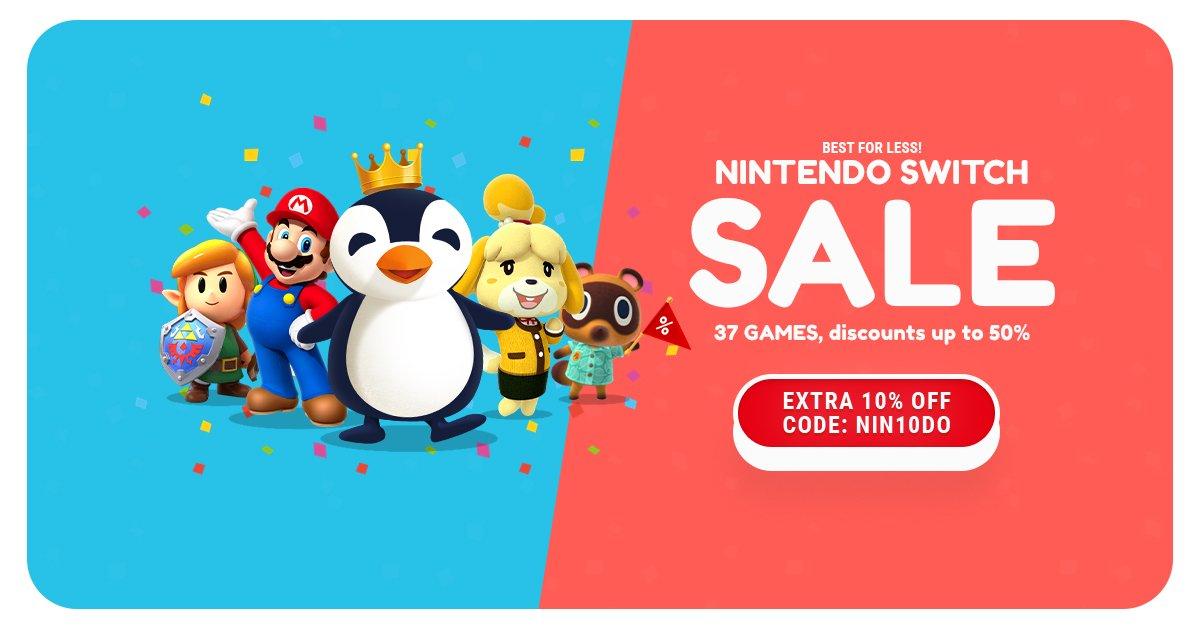 Diverse Nintendo games met 10% korting bij Kinguin