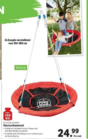 Playtive junior Nestschommel voor €24,99 (Lidl)