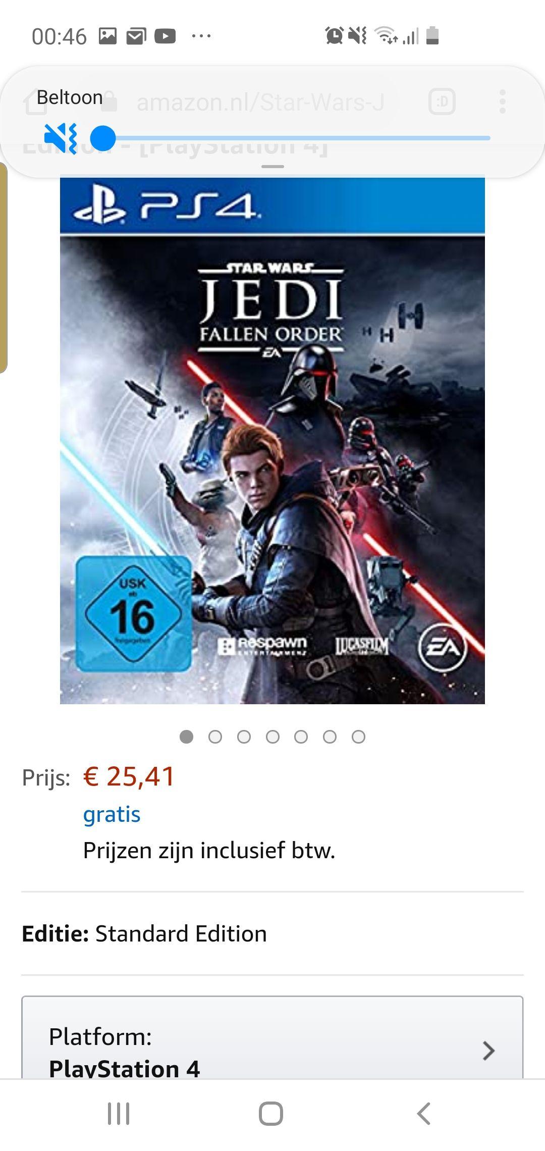 Star Wars Jedi: Fallen Order PS4 @ Amazon.nl