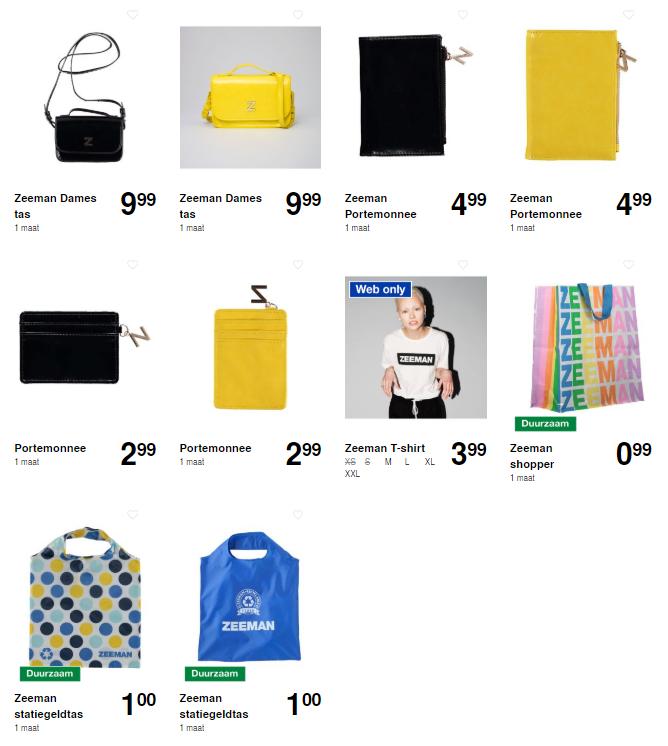 [Update] Zeeman fan-collectie: Damestas, portemonnee, pashouder, t-shirt, shopper en statiegeldtas