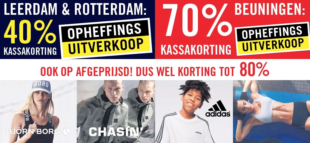 70% extra korting @Sportsworld Beuningen