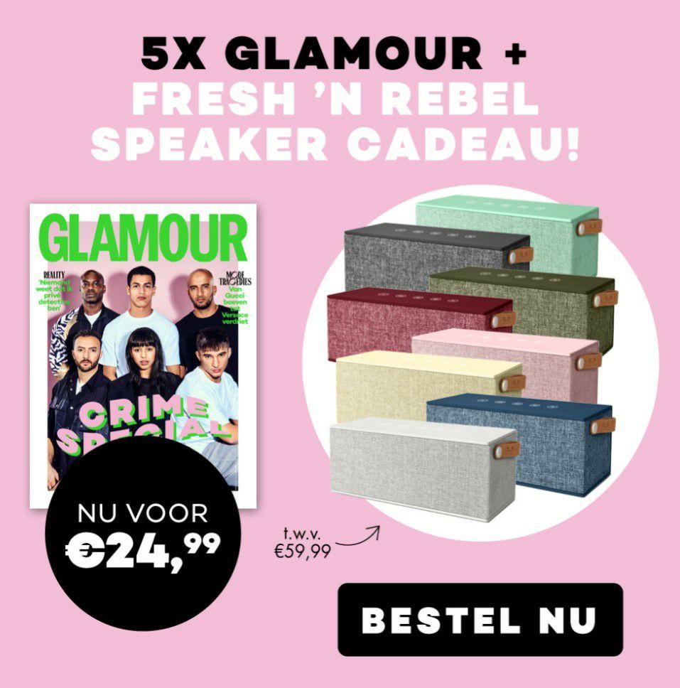 5 keer tijdschrift Glamour + Fresh n Rebel speaker