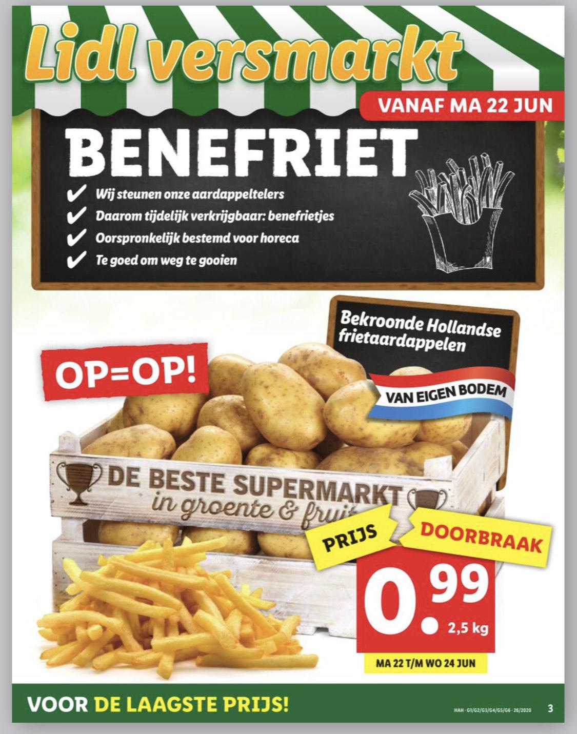 2,5kg #benefriet aardappelen @Lidl