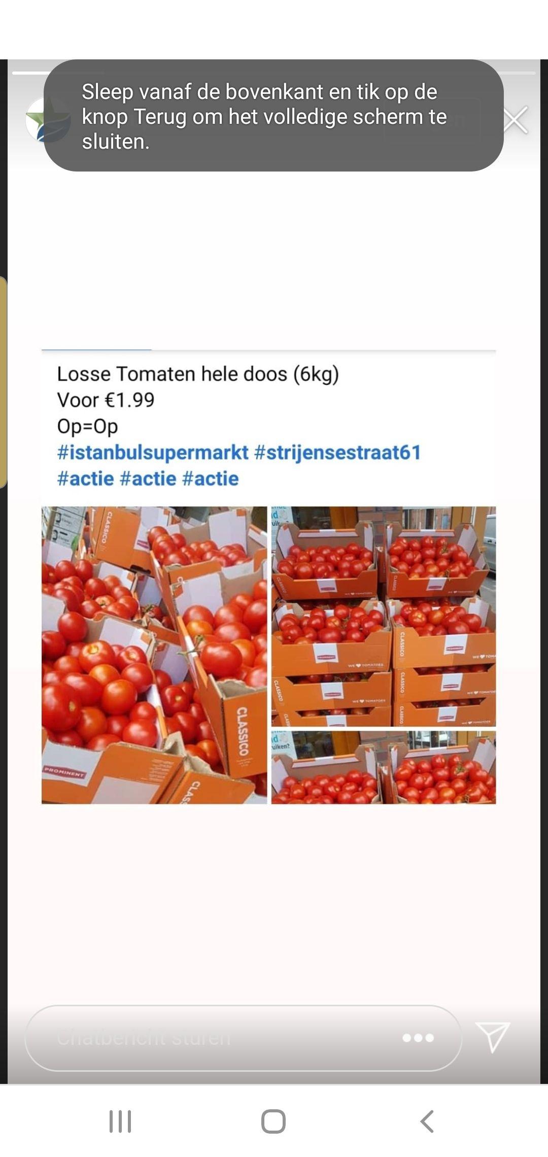 Lokaal rotterdam istanbul supermarkt 6 kilo tomaten 1.99