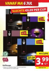 Lidl Koffiecups (€0,09 per Nespresso cup)