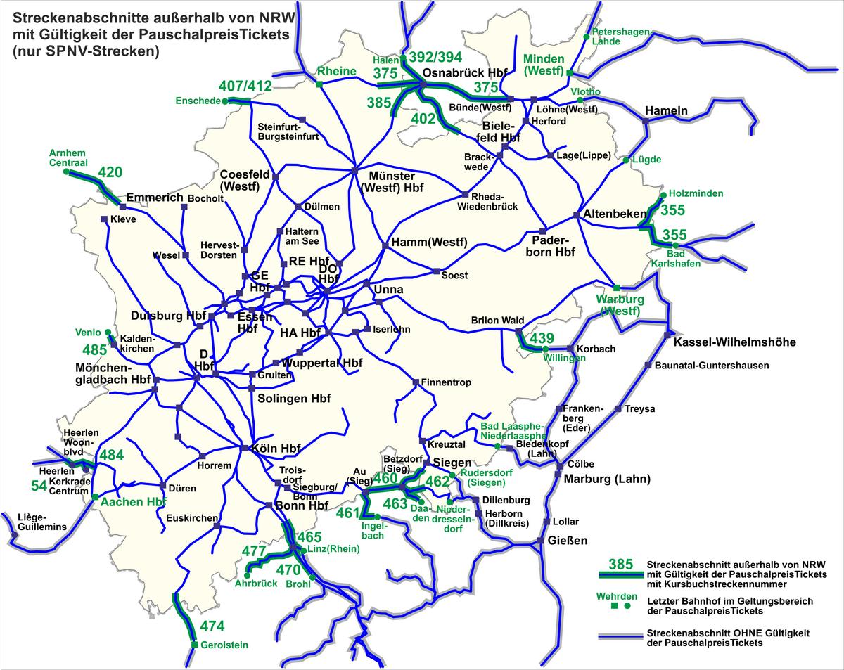 In de zomervakantie onbeperkt reizen met trein en bus door NRW voor jongeren (6 t/m 20 jaar)