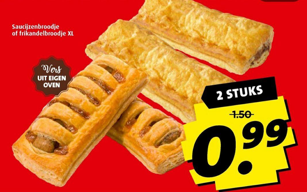 Frikandelbroodjes XL of Sacijzenbroodjes 2 voor €0,99 @Boni