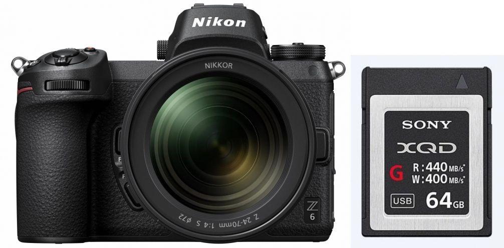 Nikon Z6 + Z 24-70mm f4 + 64GB XQD-Kaart & andere Nikon Z7 en Z6 aanbiedingen