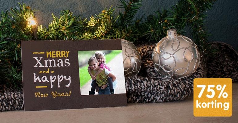 10 gepersonaliseerde Kerst ansichtkaarten voor €1,95 @ Webprint