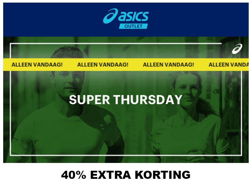 Vandaag: 40% extra korting @ Asics Outlet