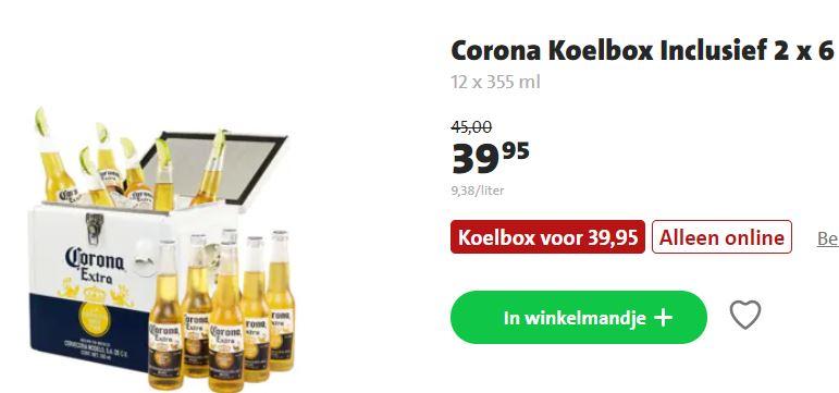 Corona Coolbox met 12 flesjes Corona op Jumbo.com
