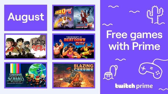 Gratis PC games van augustus @ Twitch Prime