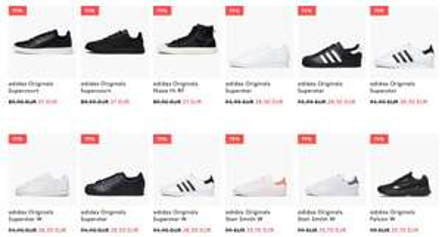 70% korting op adidas Superstar/Stan Smith sneakers