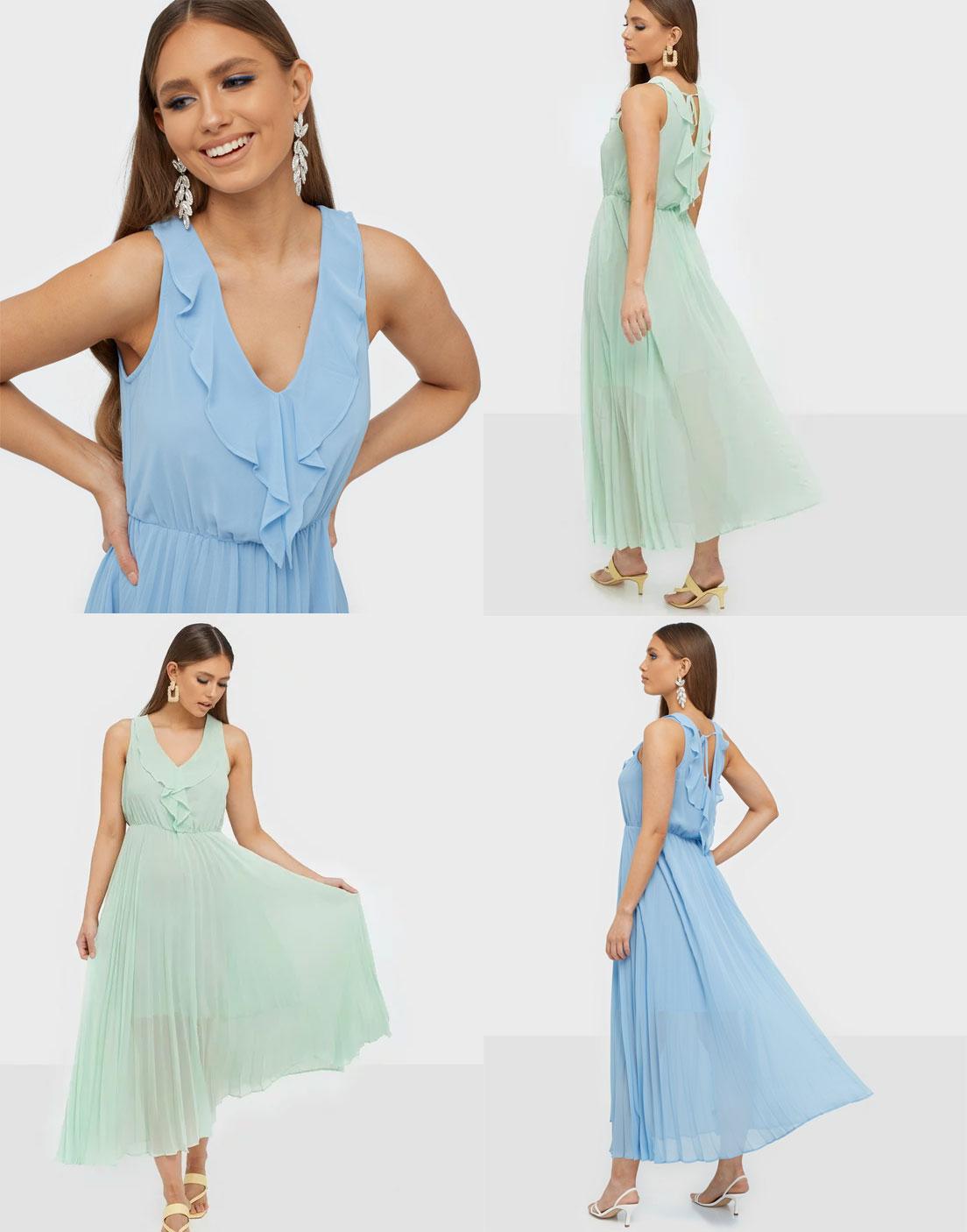 Only geplisseerde jurk - 2 kleuren @ Sans-Online