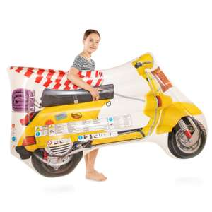 Opblaas luchtbed Vintage Scooter 183 x 113 cm @ lobbes