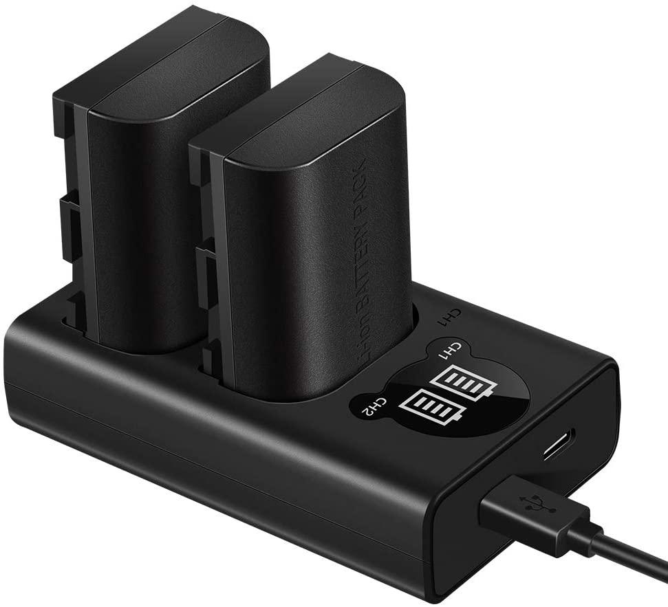 2x Oplaadbare accu voor verschillende canon cameras met oplaadstation