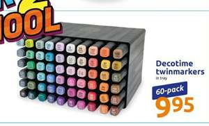 Decotime twinmarkers tray 60delig €9.95 @Action