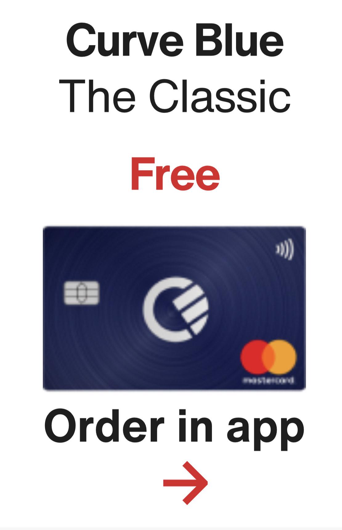 Gratis MasterCard Curve: 1% cashback 90 dagen bij favoriete winkels