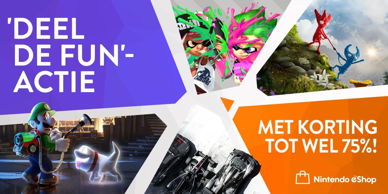 Luigi's Mansion 3, Splatoon 2 en Yoshi's Crafted World voor €39,99 p.s. @ Nintendo eShop NL