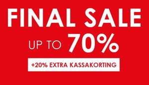 SALE tot -70% + 20% extra + 10% extra @ Jeans Centre