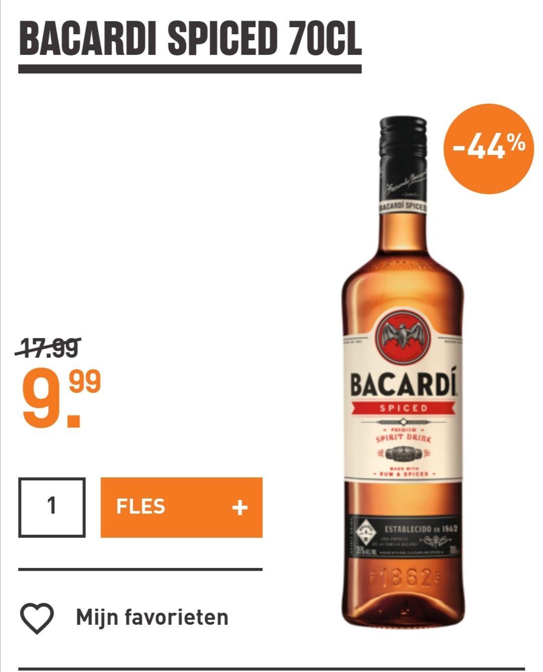 Bacardi Oakheart/Spiced