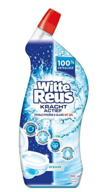 Gratis witte reus wc gel bij aankoop 10x wcblokken voor 10 euro