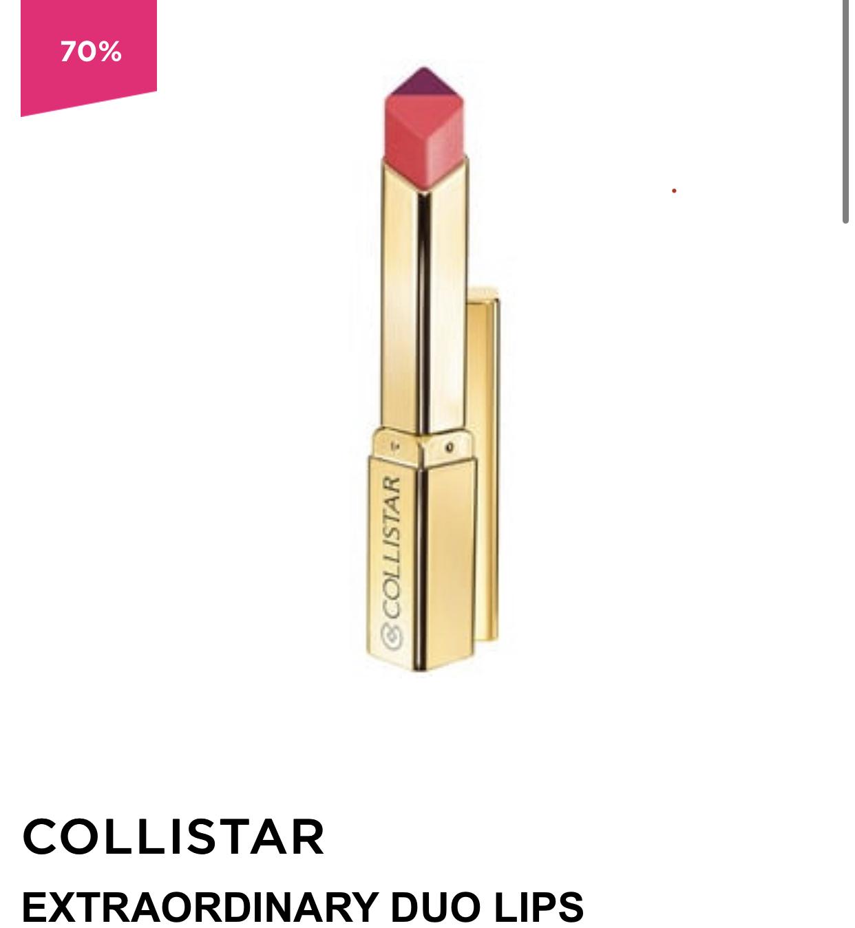 Collistar Extraordinary Duo Lips Lipstick @ ICI PARIS XL
