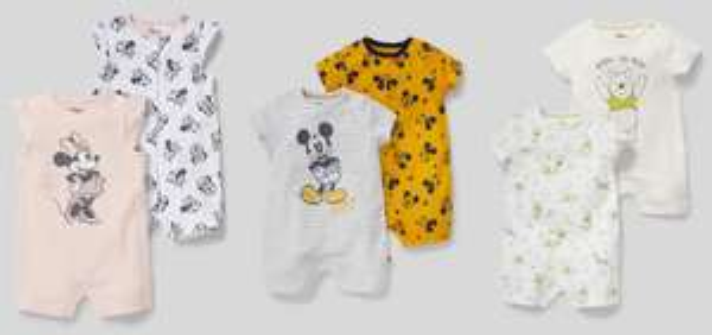 Baby pyjama duopack Minnie, Mickey Mouse of Winnie de Poeh voor €7 p.s. (was €12,90)