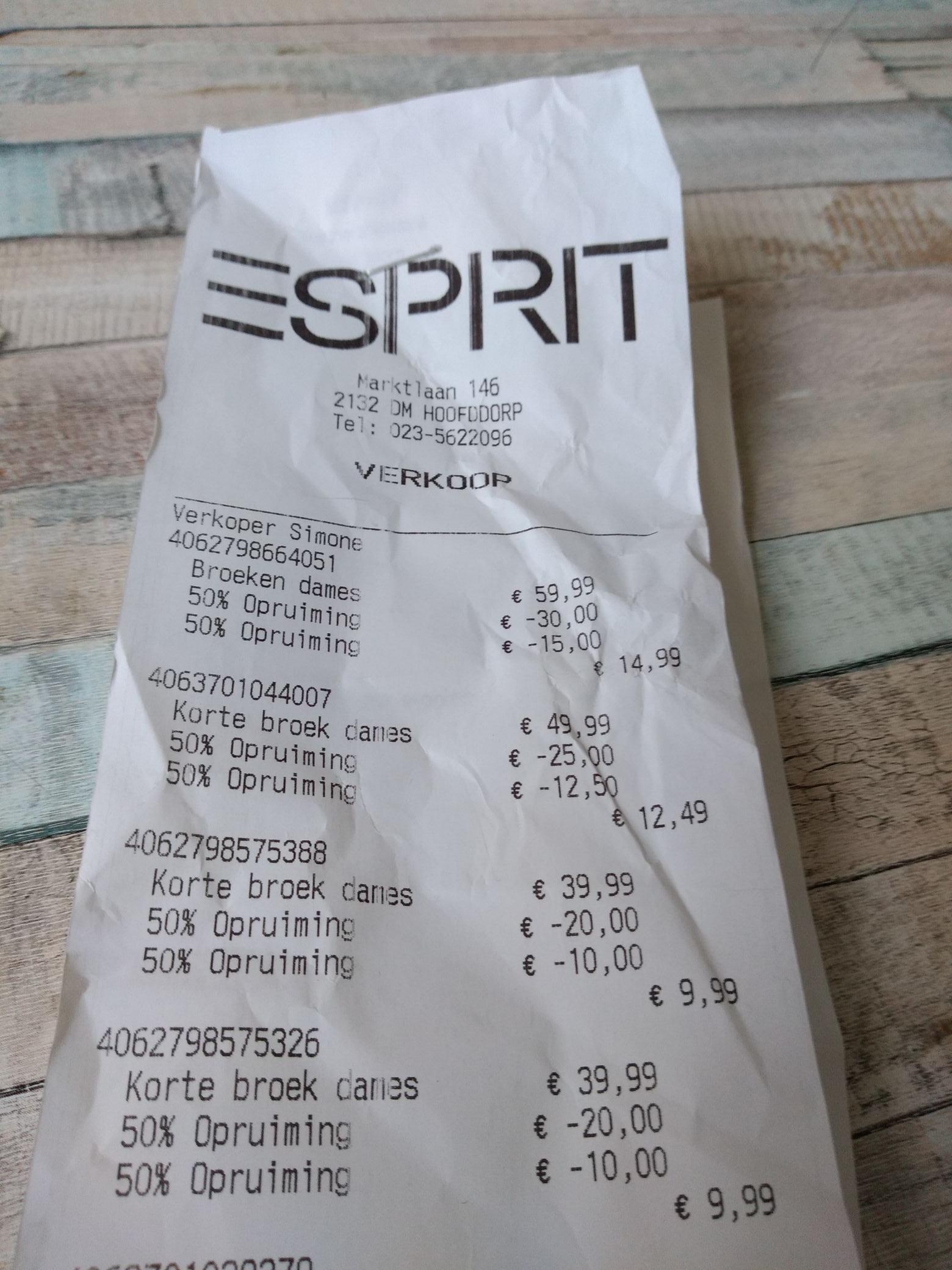 [lokaal?] 75% korting in store op zomer sale @ Esprit