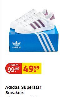 Dames Adidas Superstar Sneakers @ Kruidvat