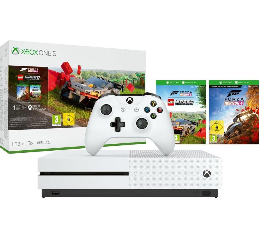Microsoft Xbox One S 1TB + Forza Horizon 4 + Lego DLC Wit @ Game-Outlet