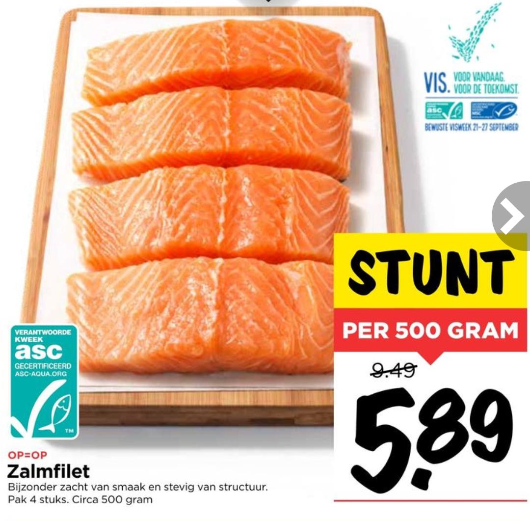 Zalmfilet voor €5,89 / 500gr. @ Vomar