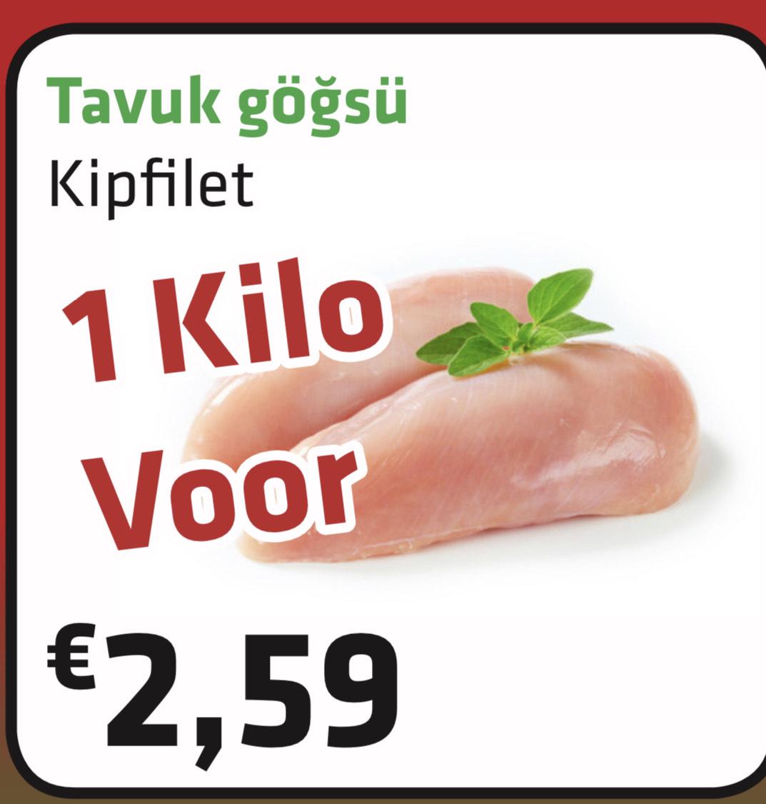 [Amersfoort] lokale Turk, super aanbiedingen! O.a 1 kg Kipfilet voor €2,59