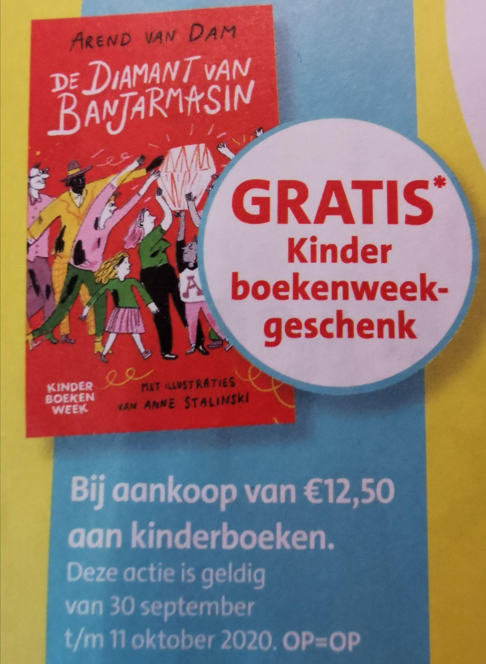 Kinderboekenweek 30 september t/m 11 oktober, gratis kinderboek geschreven door Arend van Dam bij aankoop van € 12,50 aan kinderboeken.