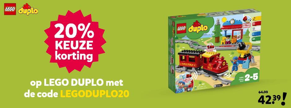 20% keuze korting op lego duplo bij Intertoys met kortingscode