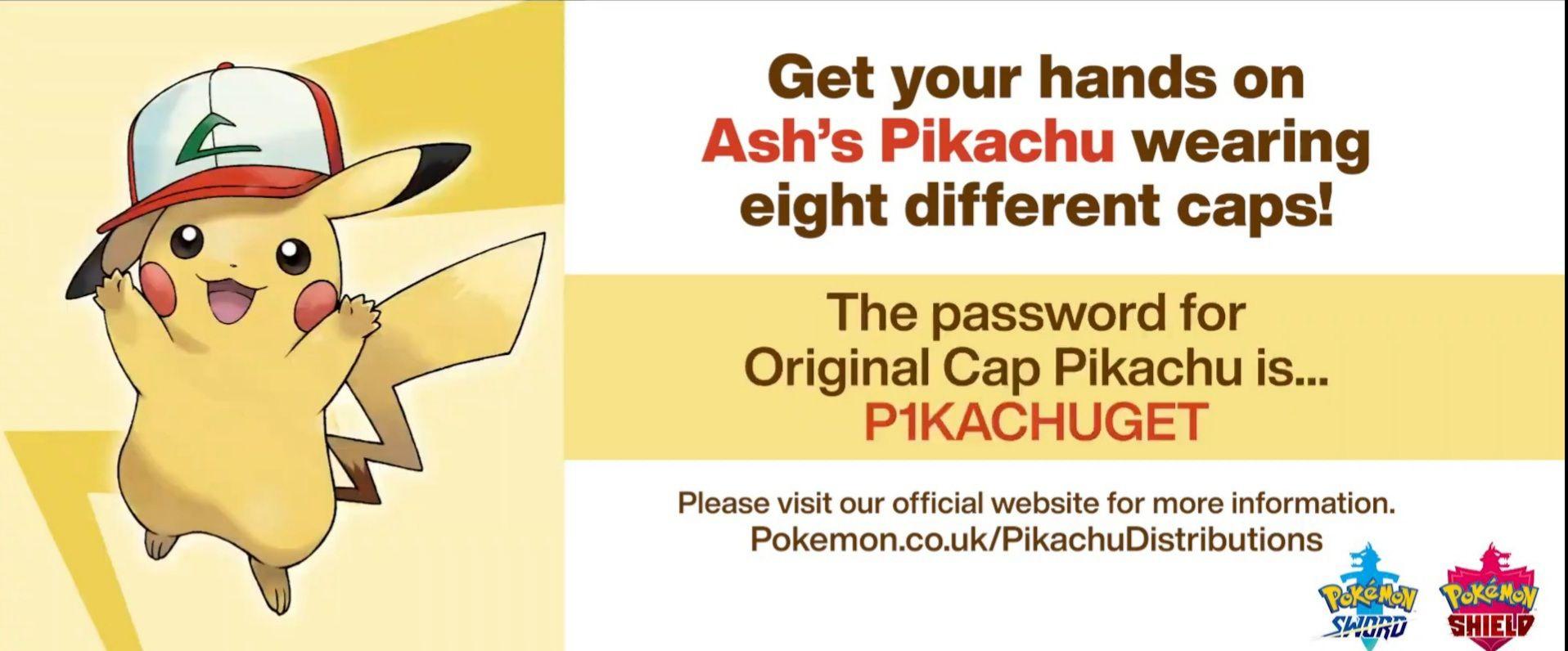 Pokémon sword and shield gratis pikachu met ash pet
