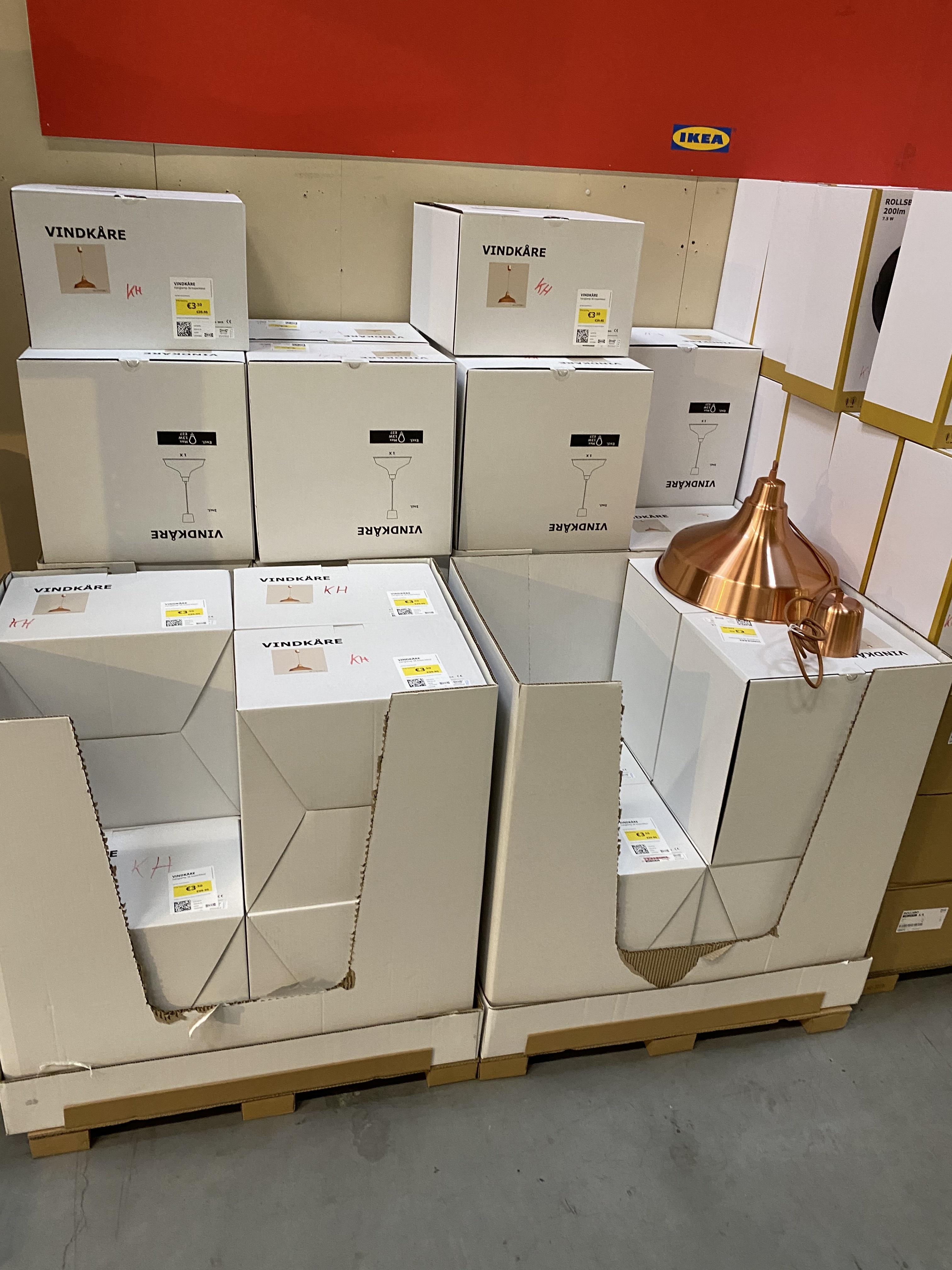 Ikea vindkare hanglamp 36cm koper @Ikea Barendrecht