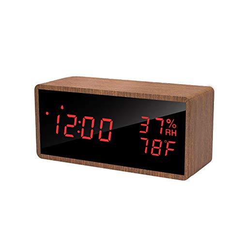 Digitale LED wekker (met temperatuur/luchtvochtigheid) voor €11,99 @ Amazon.de