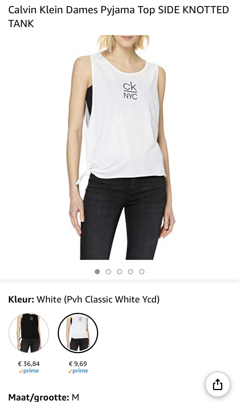 Calvin Klein Dames Pyjama Top vanaf €9,69