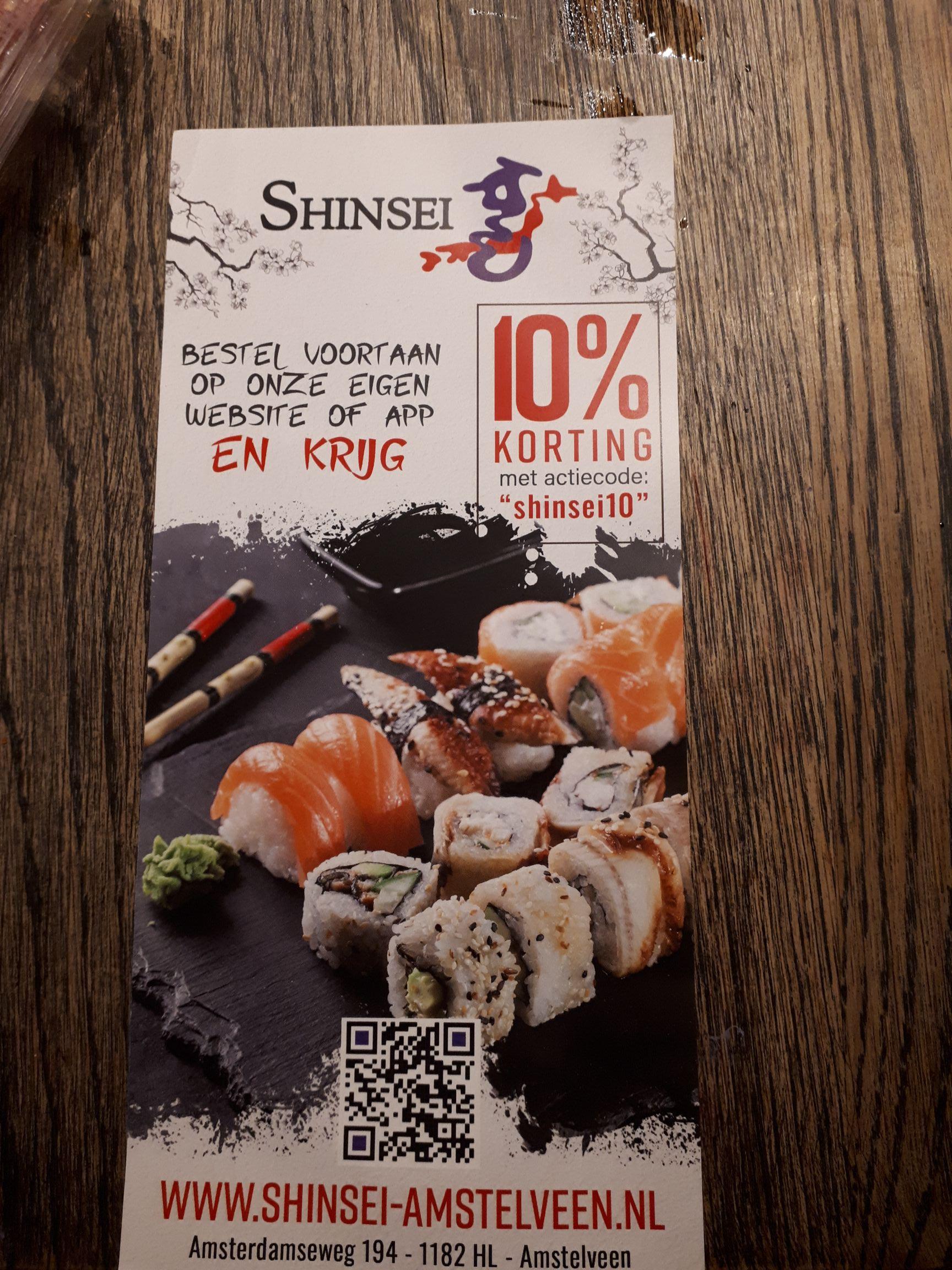 Lokaal - 10% korting via Shinsei sushi Amstelveen
