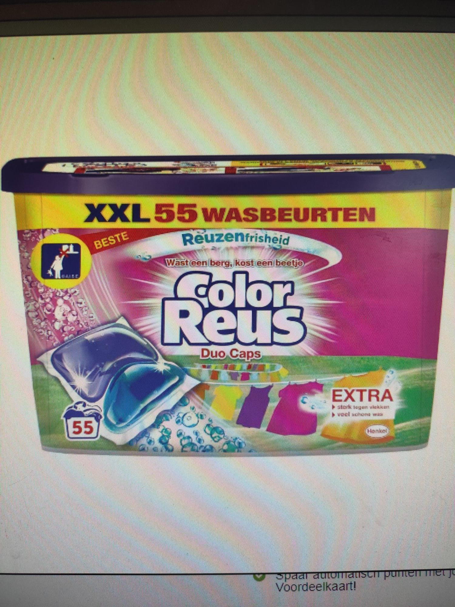 Color reus duo caps, 11 cent per cap