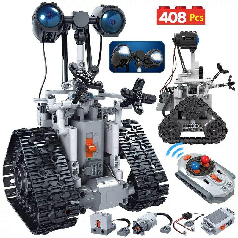 Erbo 408Pcs Stad Creatieve Rc Robot Elektrische Bouwstenen Technic Afstandsbediening Intelligente Robot Bricks Speelgoed Voor Kinderen