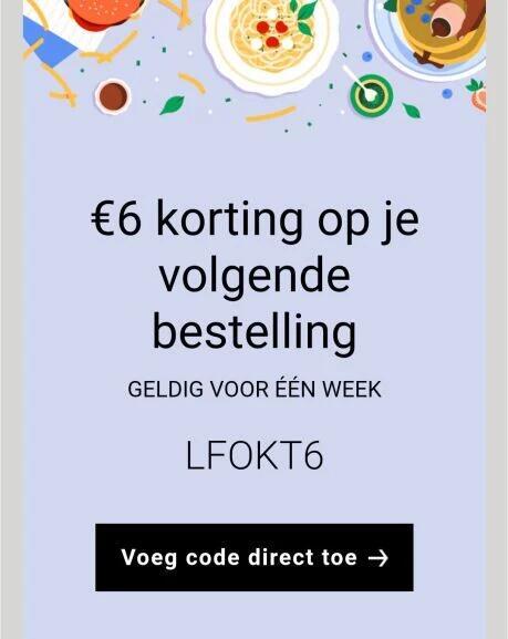[UBER] 6 euro korting op je volgende bestelling