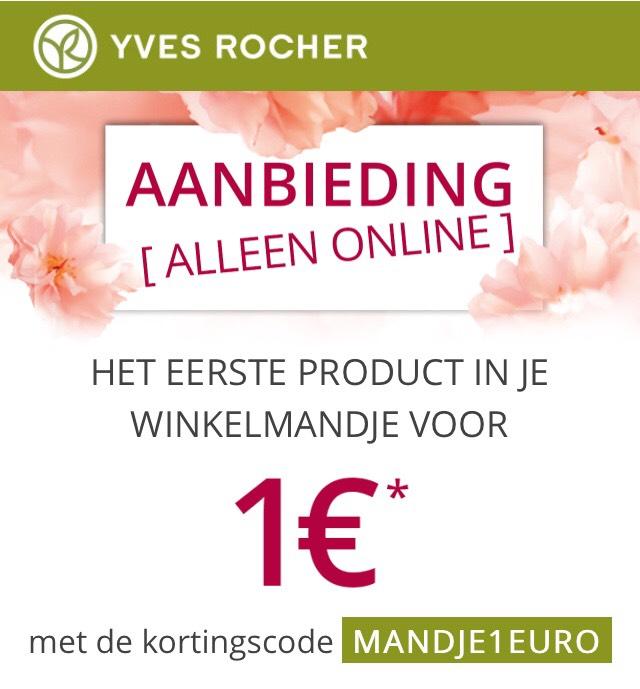 Yves Rocher - Eerste product in mandje €1