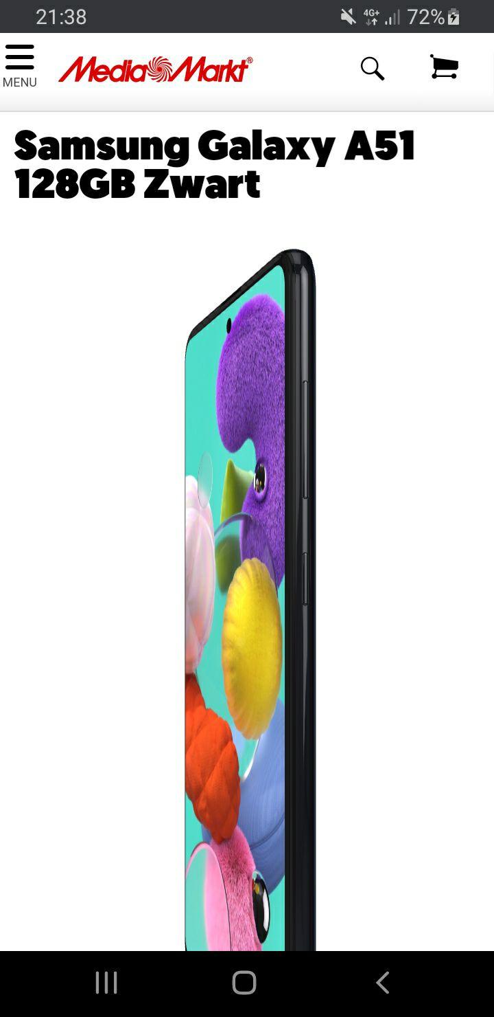 Samsung Galaxy A51 128GB Zwart Voor €160